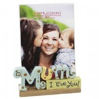 "Juliana Resin Lettering Photo Frame 'Mum' 4"" x 6"""